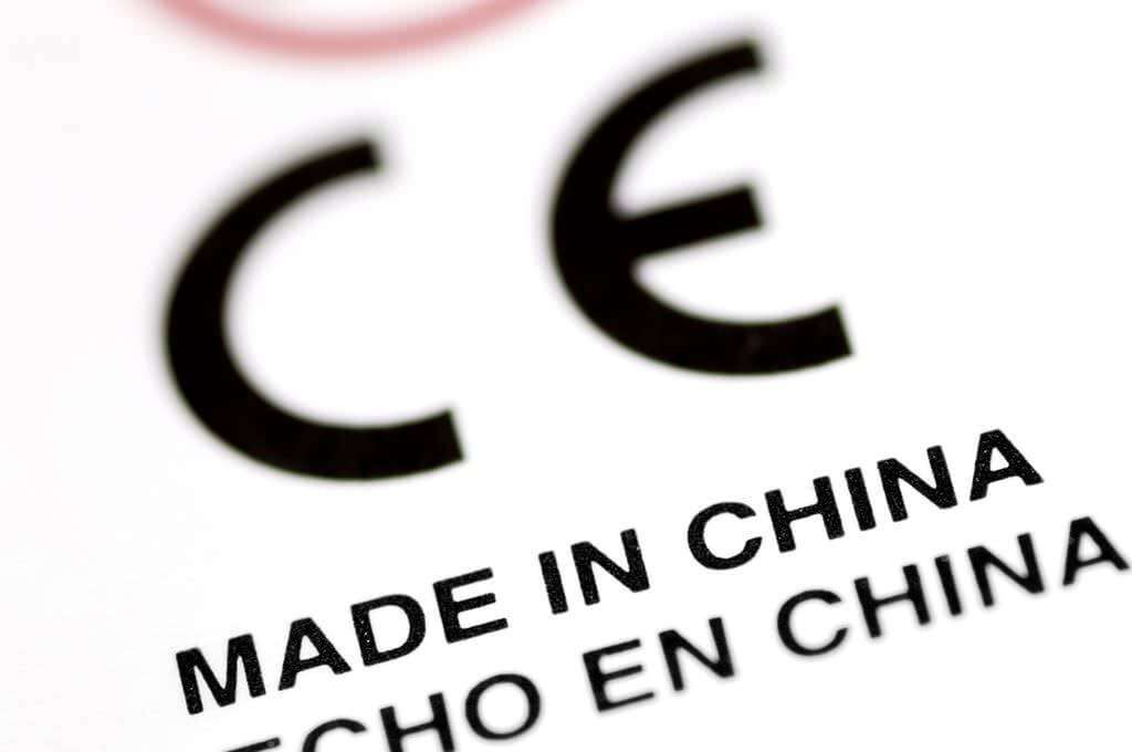 CE Made In China Label